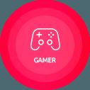 Ícone perfil gamer Click
